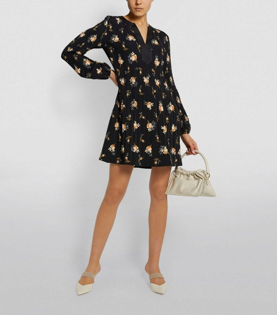 MAJE Floral Print Mini Dress