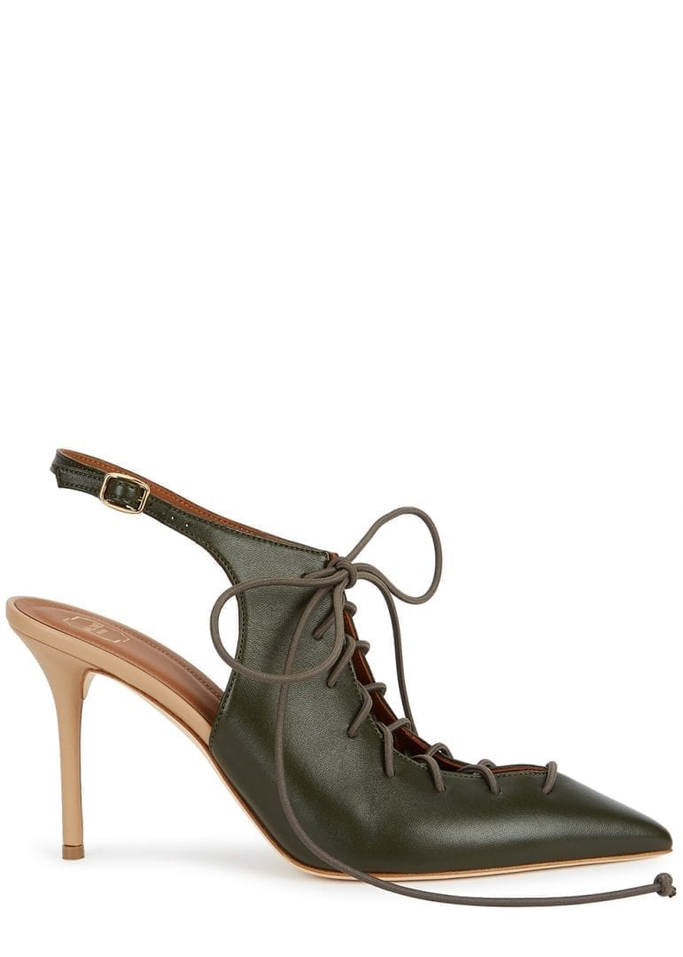 MALONE SOULIERS Alessandra 85 Lace-up Leather Pumps