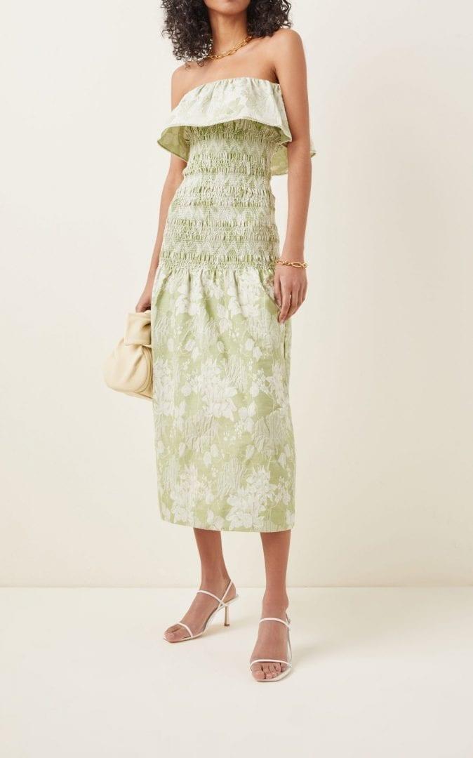 MARKARIAN Ashton Printed Smocked Jersey Dress
