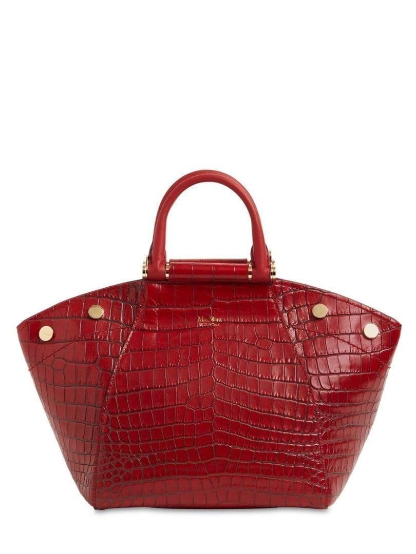 MAX MARA Anita S2 Croc Embossed Leather Bag