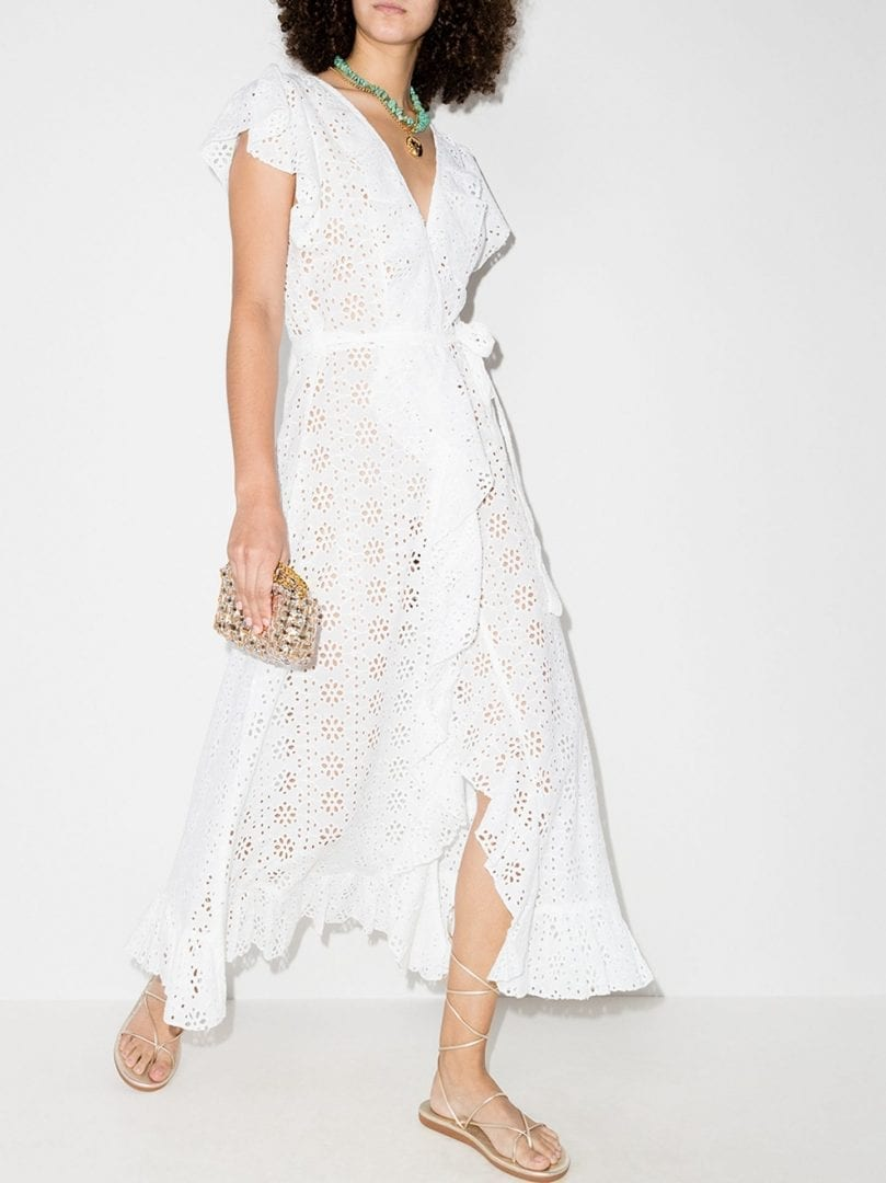 MELISSA ODABASH Brianna Wrap Cotton Midi Dress
