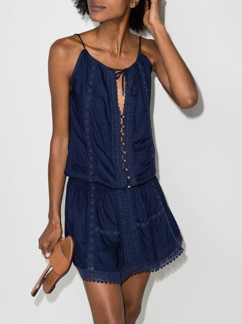 MELISSA ODABASH Chelsea Button Front Mini Dress
