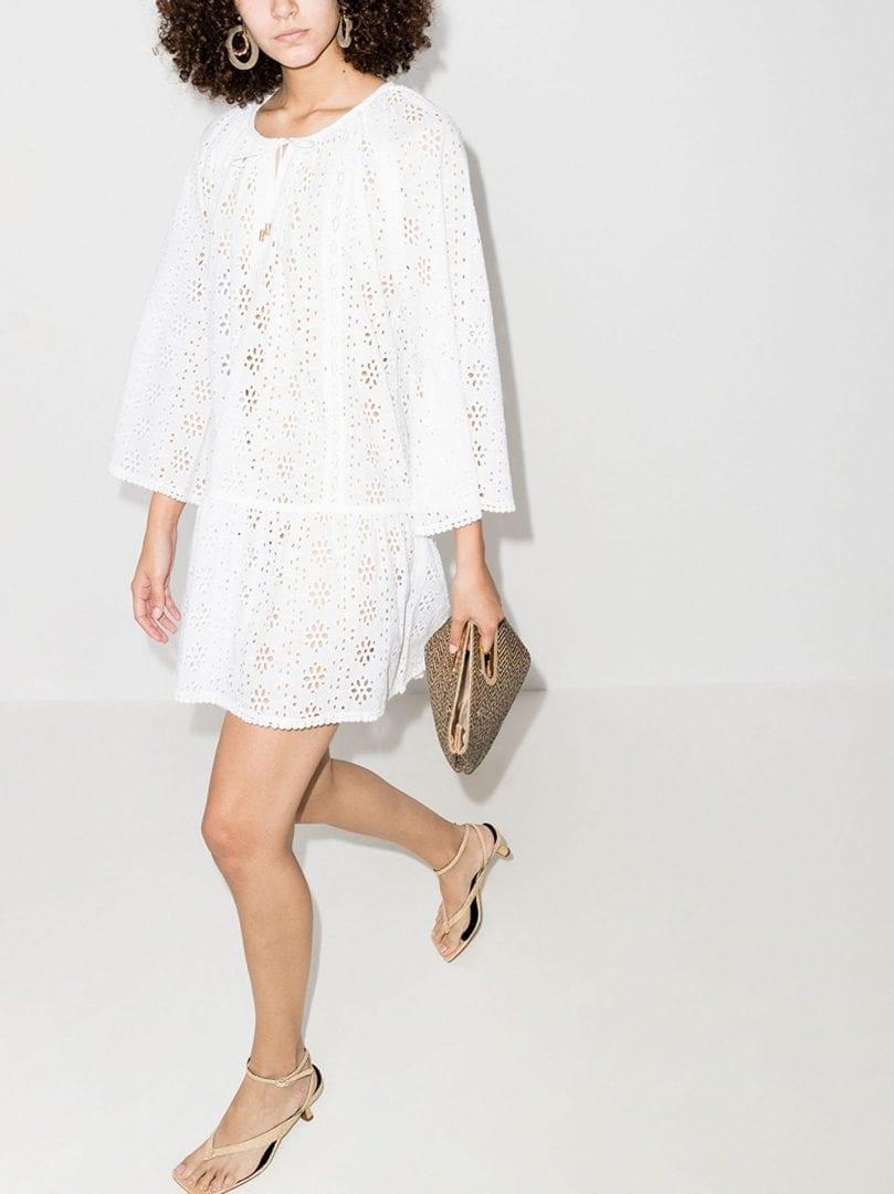 MELISSA ODABASH Corina Mini Cotton Beach Dress