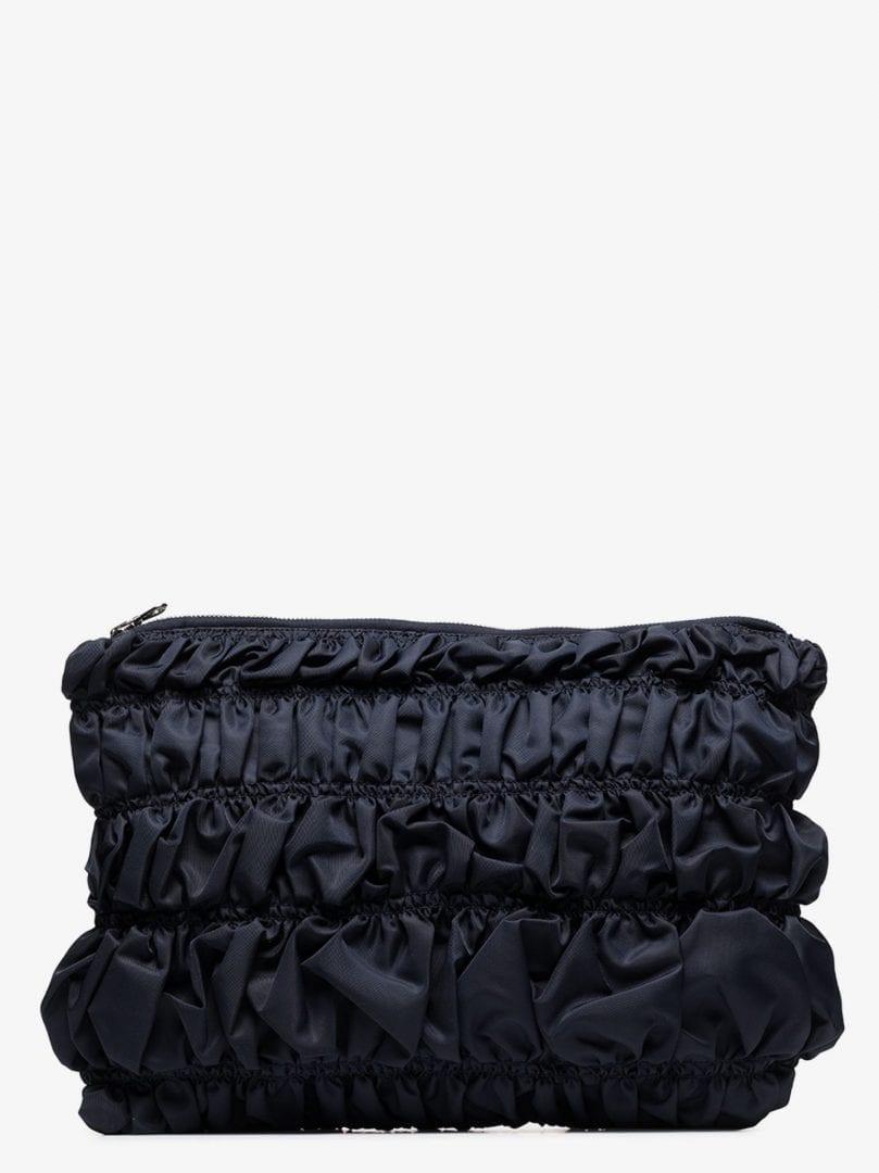 MOLLY GODDARD Navy Osaka Bumpy Clutch Bag