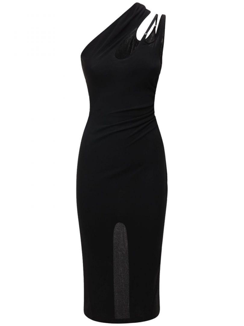 MUGLER Crepe Jersey Midi Dress