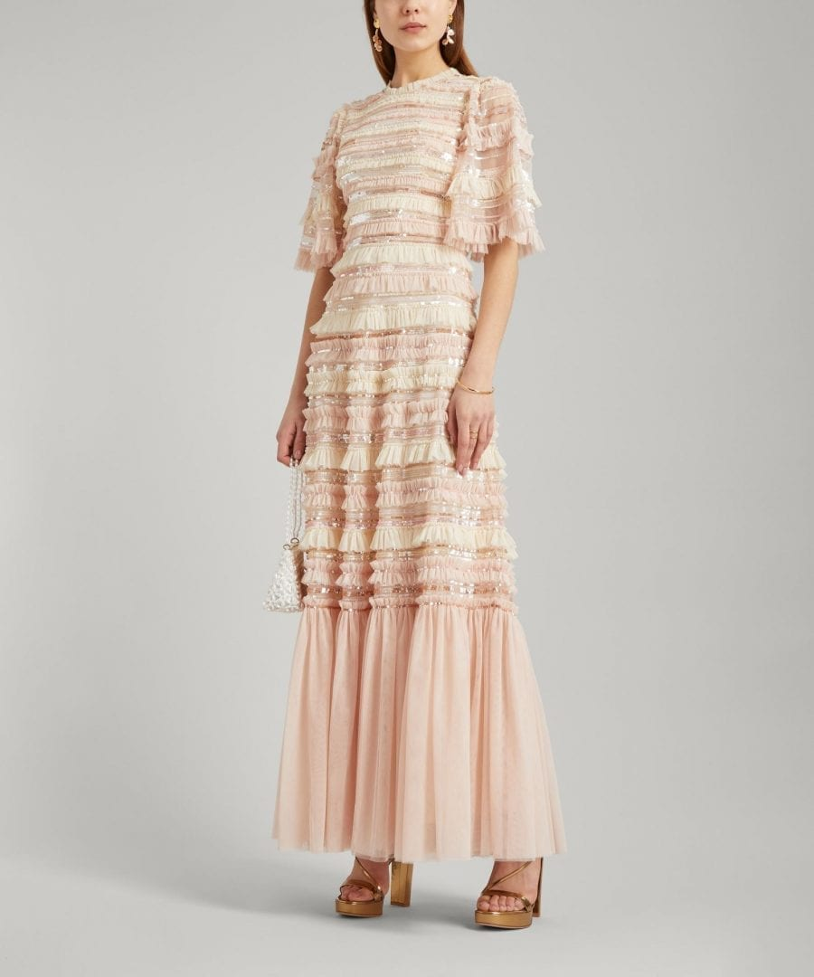 NEEDLE & THREAD Nancy Stripe Frill Gown