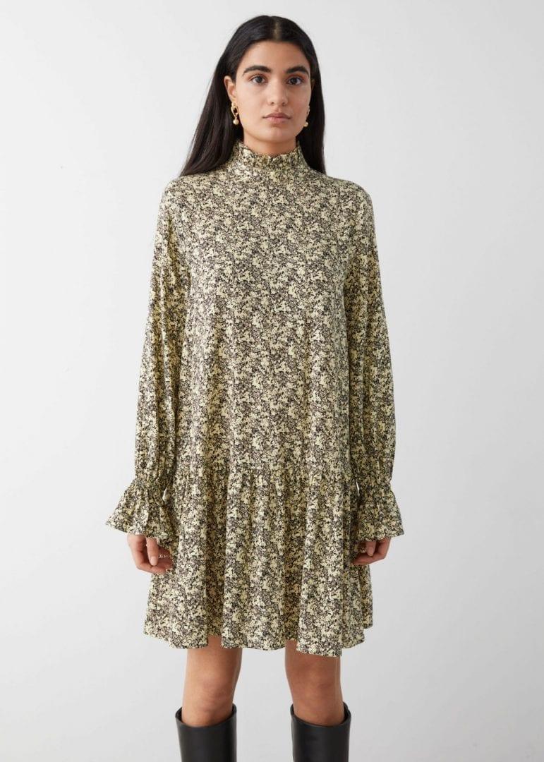 & OTHER STORIES Voluminous Sleeve Cupro Mini Dress