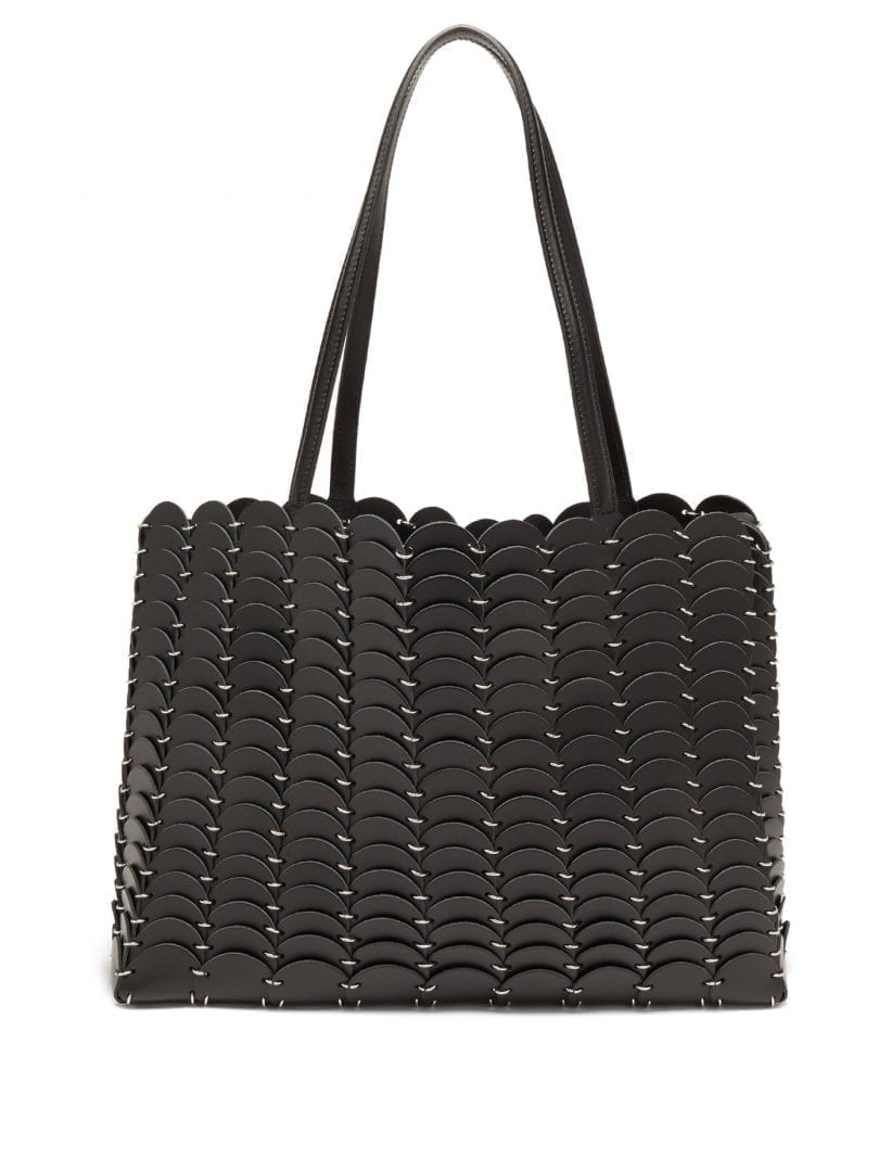 PACO RABANNE Pacoio Leather-chainmail Tote Bag