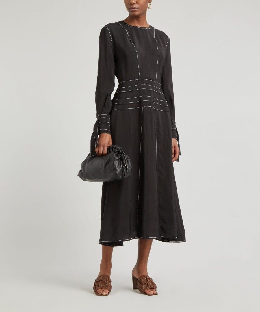 REJINA PYO Linda Contrast Stitch Midi-Dress