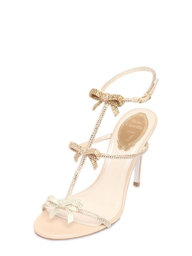 RENÉ CAOVILLA 105mm Embellished Satin Sandals