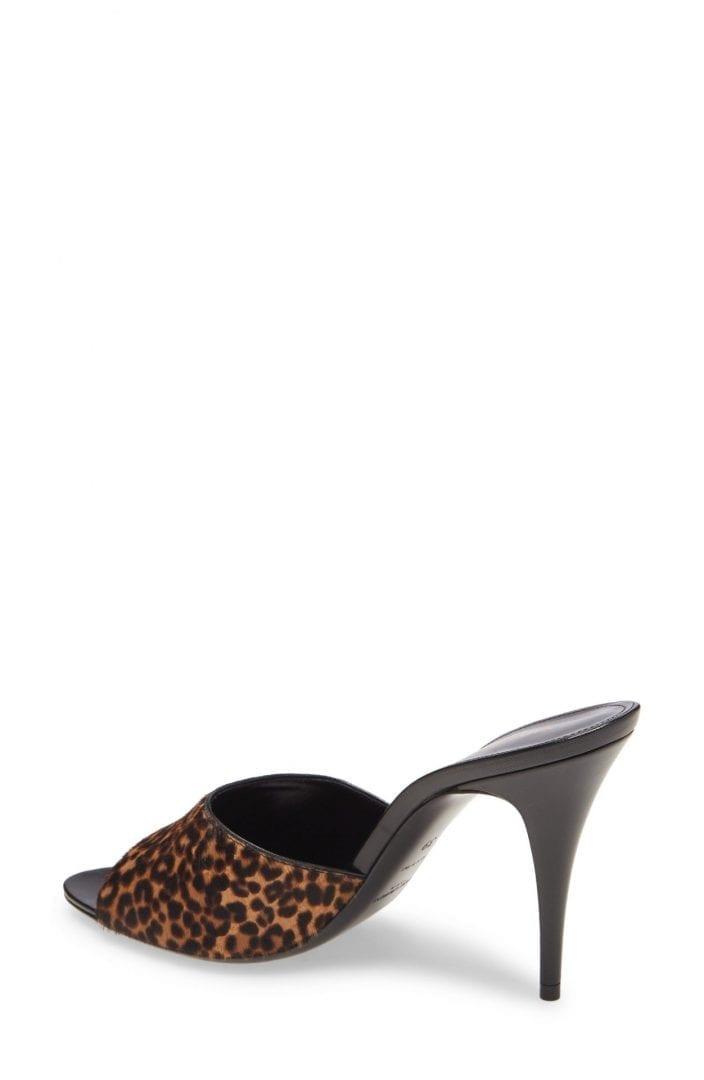 SAINT LAURENT Genuine Calf Hair Slide Sandal