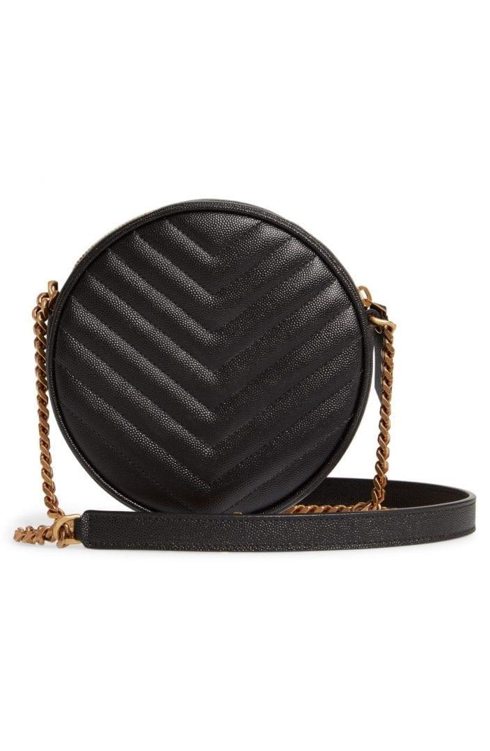 SAINT LAURENT Jade Matelassé Leather Crossbody Bag