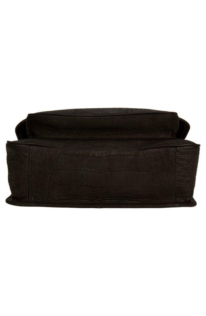 SAINT LAURENT Medium Niki Nubuck Leather Shoulder Bag