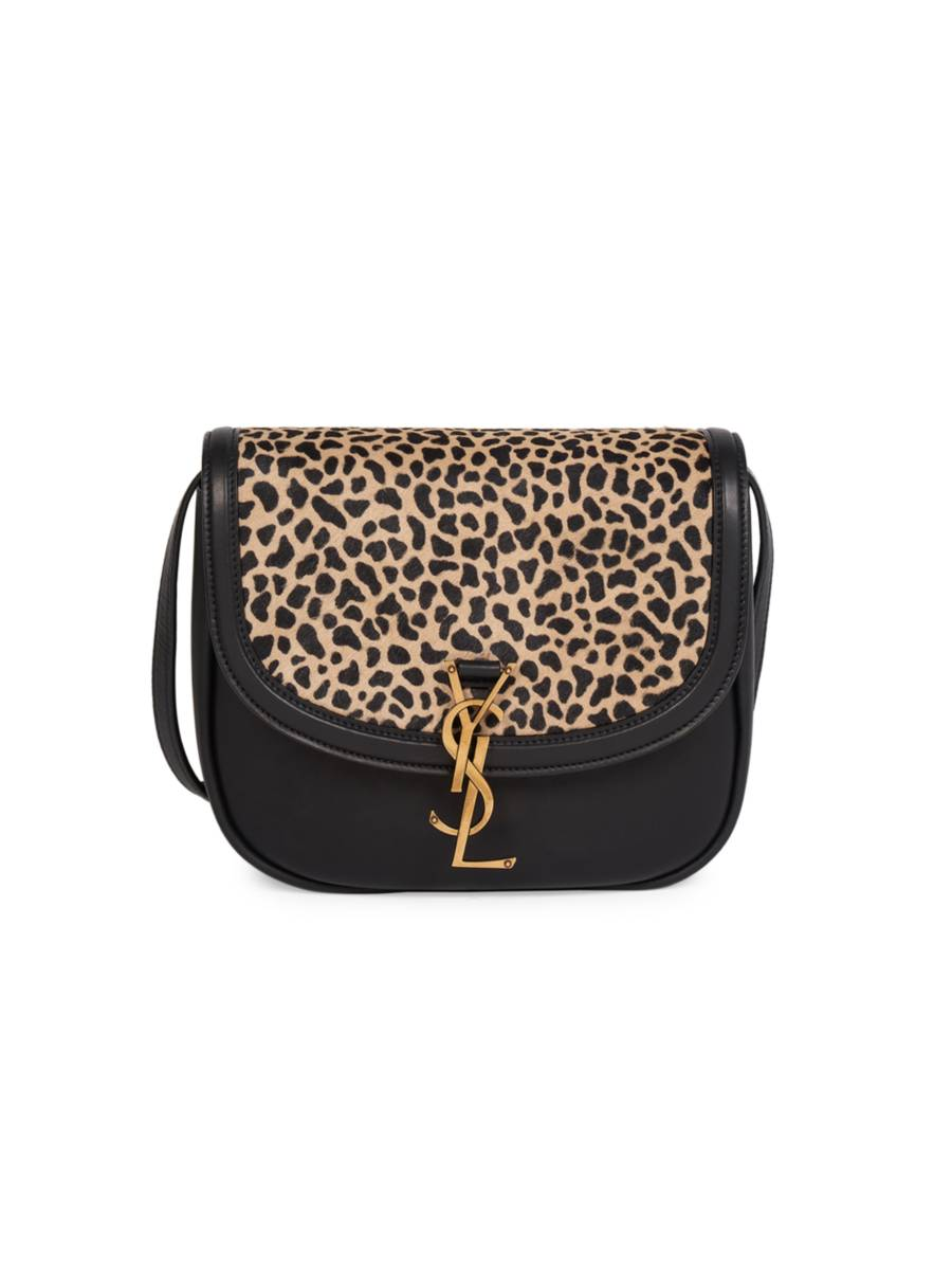 SAINT LAURENT Monogram Giraffe Pony Crossbody Bag