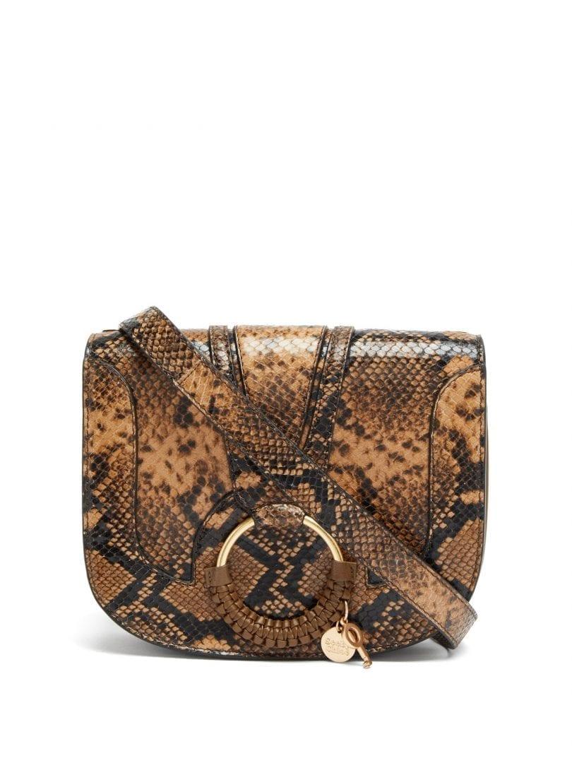 SEE BY CHLOÉ Hana Mini Python-effect Leather Cross-body Bag