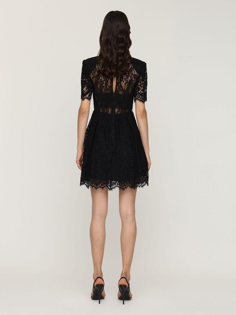 SELF-PORTRAIT Fine Cord Lace Mini Dress