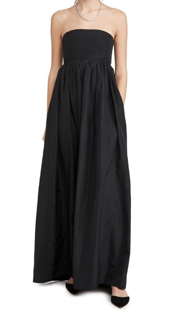 TIBI Taffeta Strapless Cocoon Dress